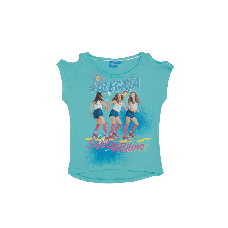 Camiseta de niña hombros descubiertos Soy Luna