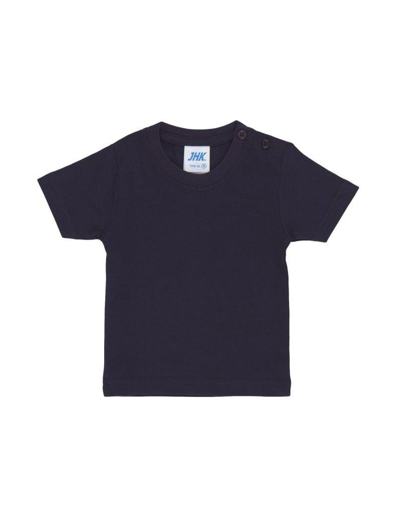Camiseta básica para bebé cuello en canalé