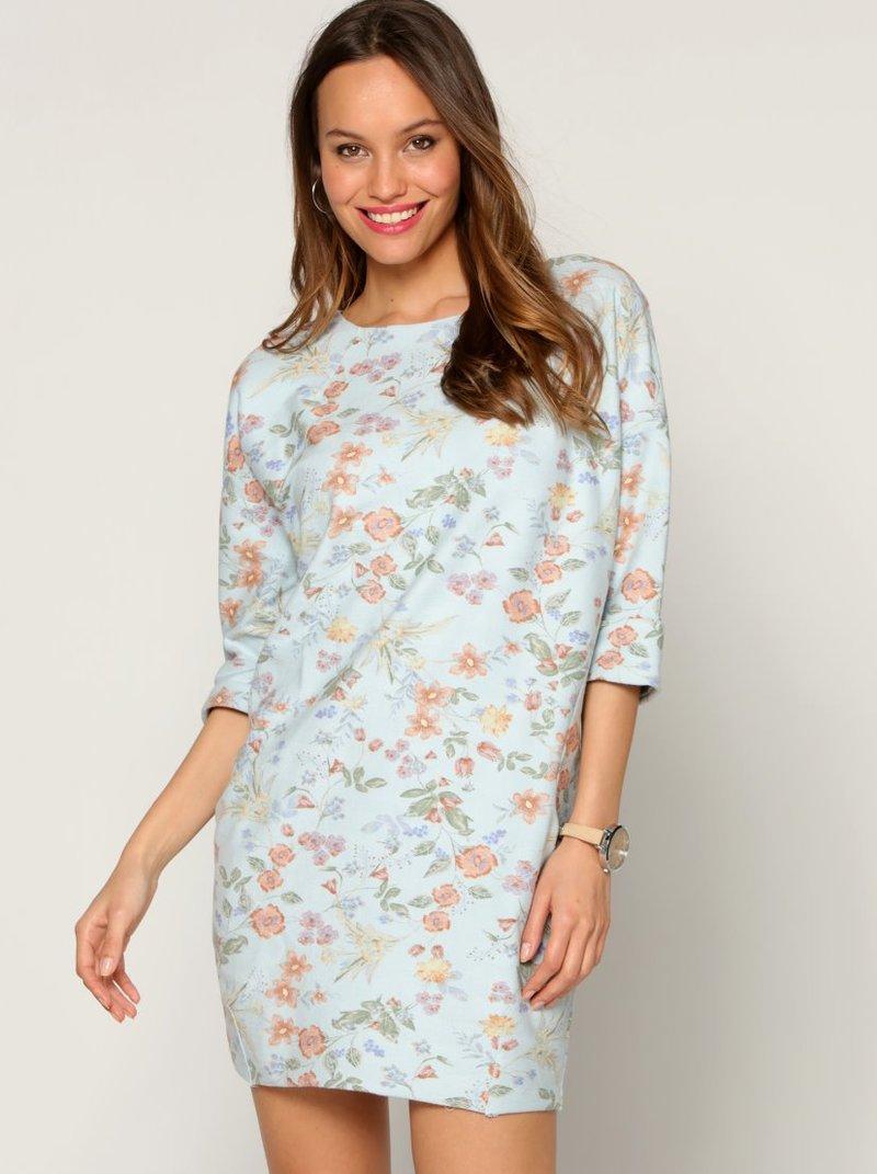 Vestido felpa estampado floral