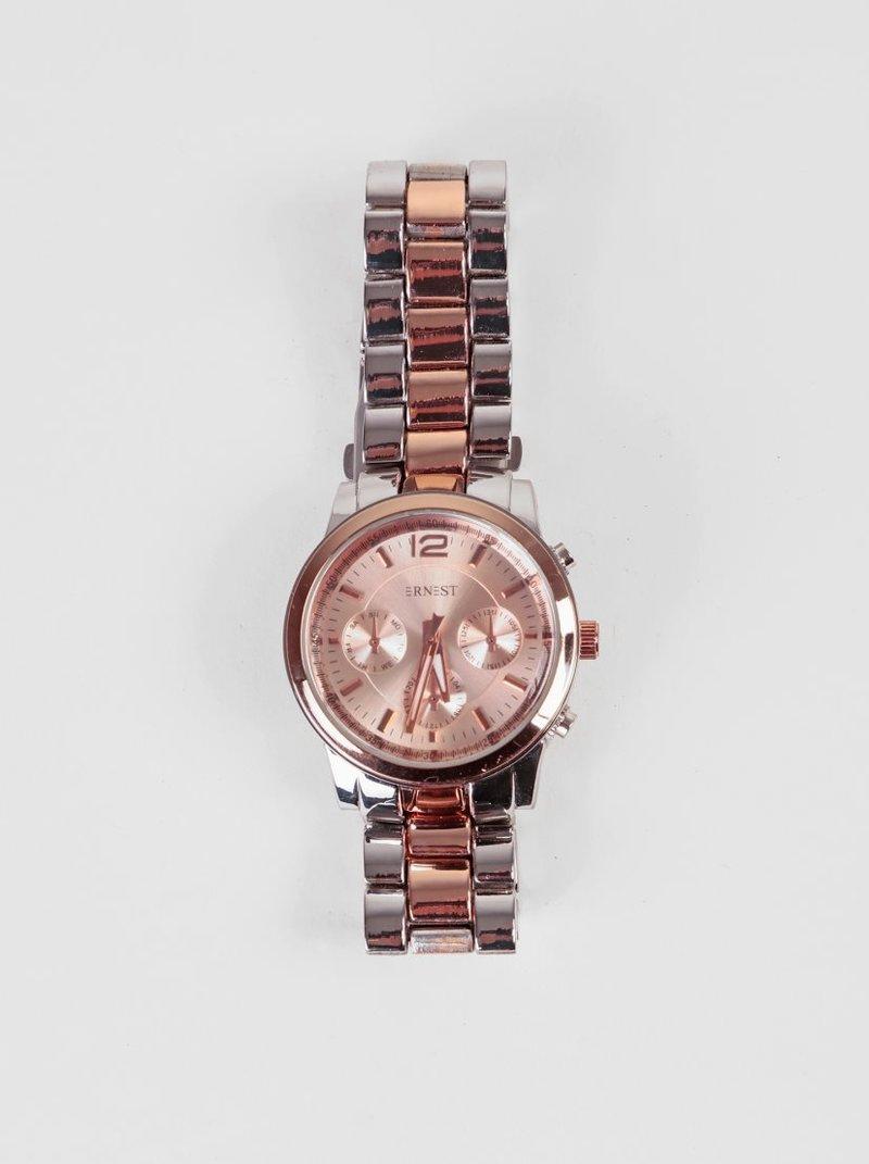 Reloj analógico correa metálica elástica