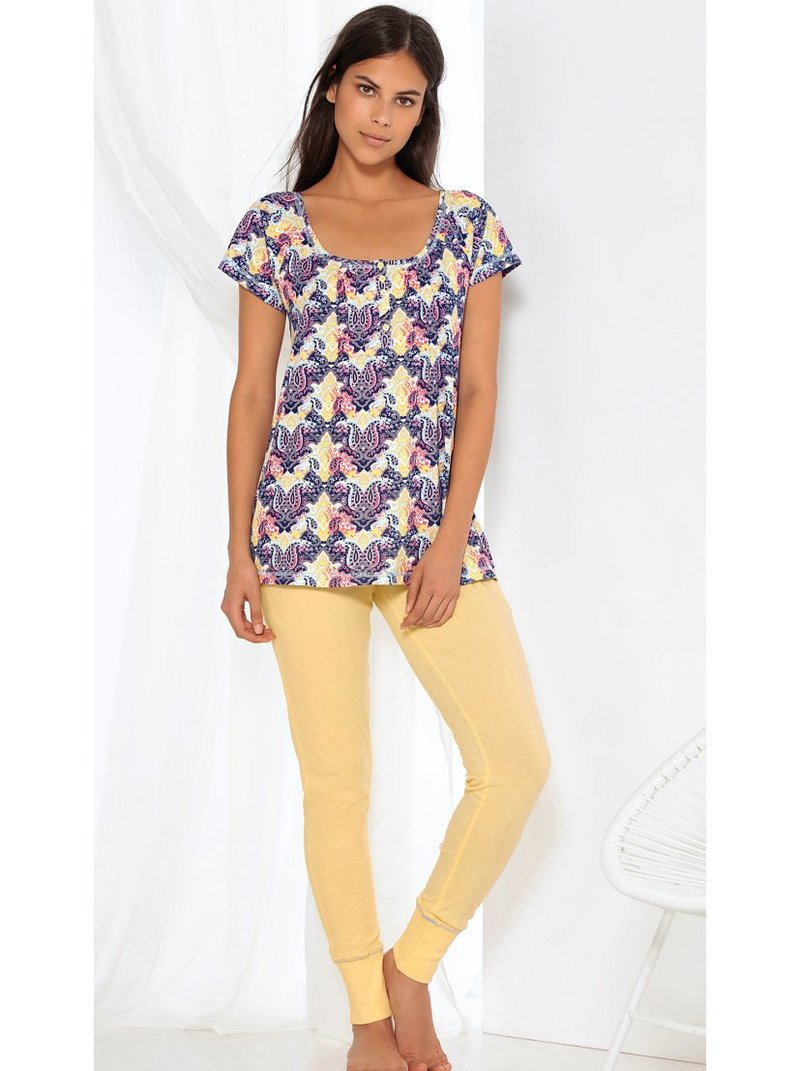 Pijama camiseta de manga corta y pantalón largo