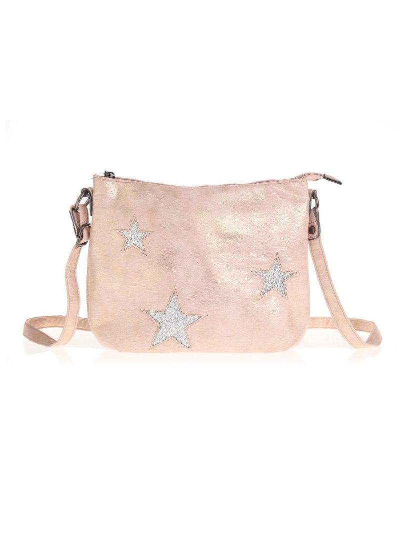 Bolso con detalles de glitter y estrellas