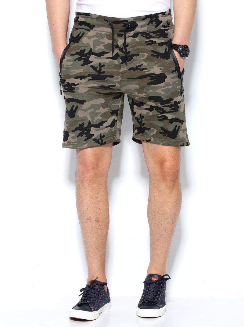 Pantalón bermuda de felpa para hombre camuflaje