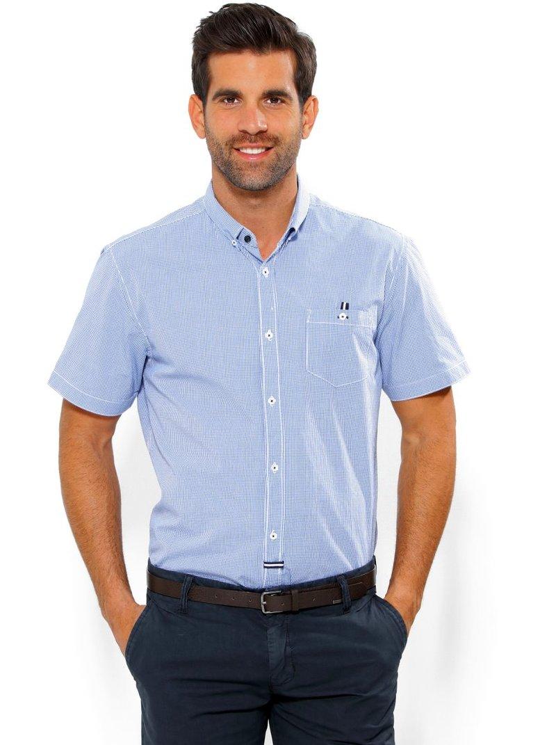 Camisa de hombre manga corta a cuadros