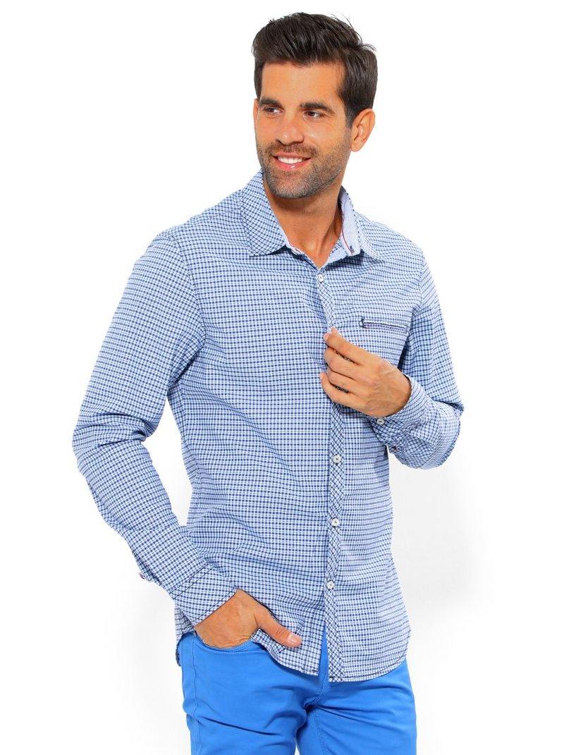 Camisa de hombre manga larga con puño cachemira