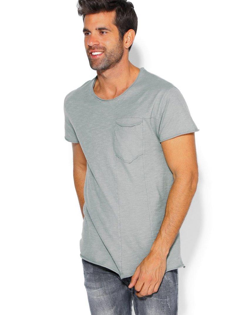 Camiseta manga corta para hombre acabado roulé