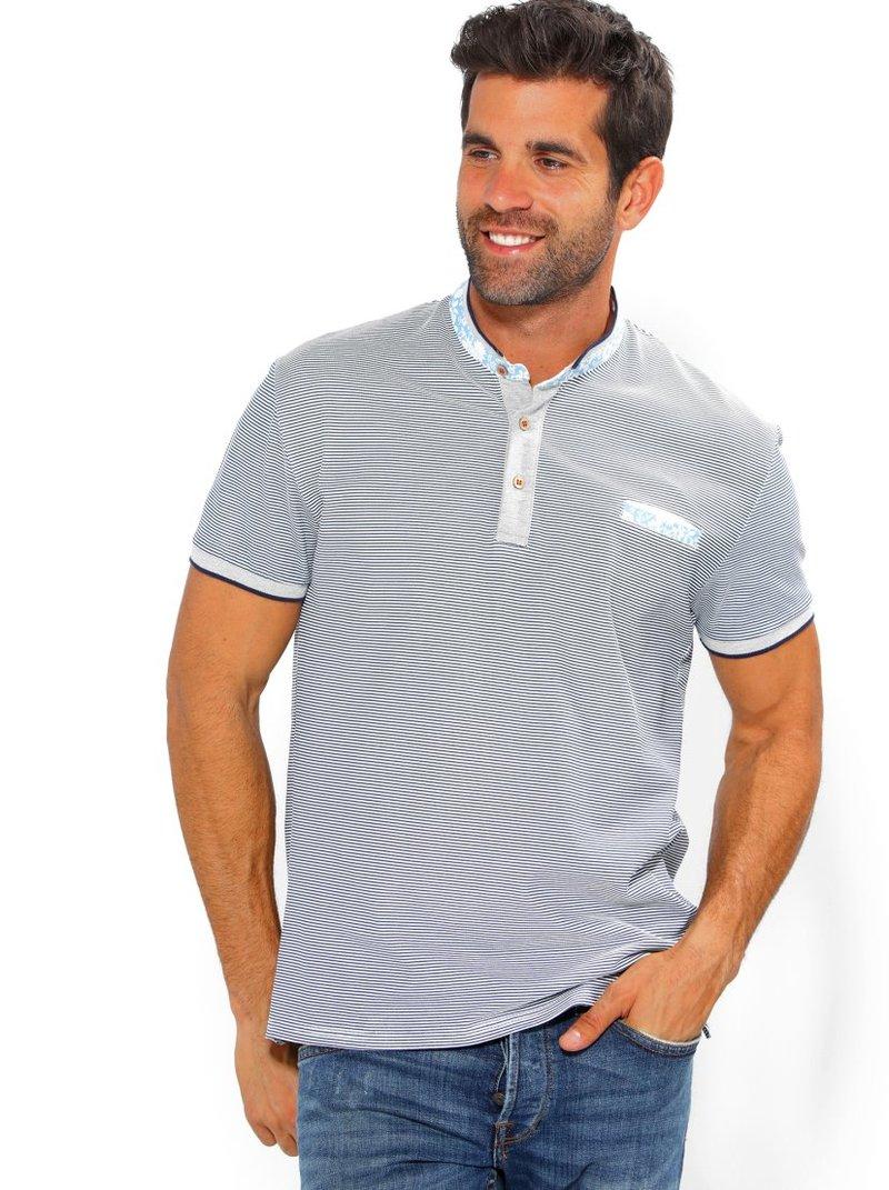 Camiseta polo hombre estampado con bolsillo
