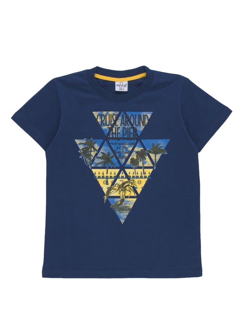 Camiseta de niño estampado geométrico multicolor