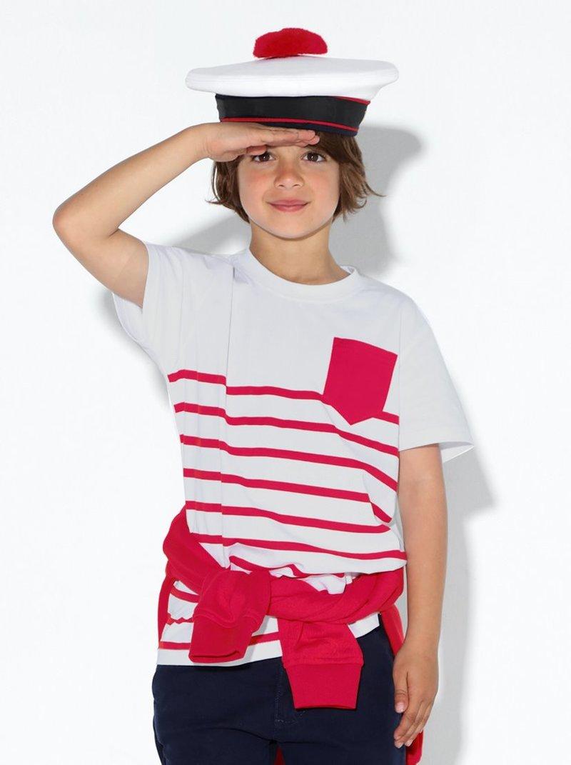 Camiseta niño manga corta con bolsillo