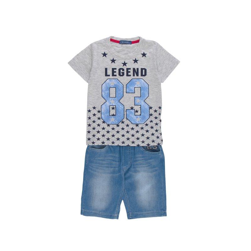 Conjunto 2 piezas niño camiseta y pantalón vaquero