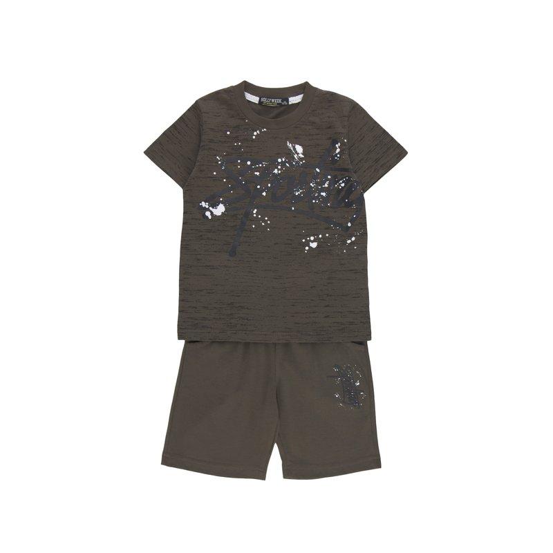 Conjunto deportivo 2 piezas niño camiseta y pantalón