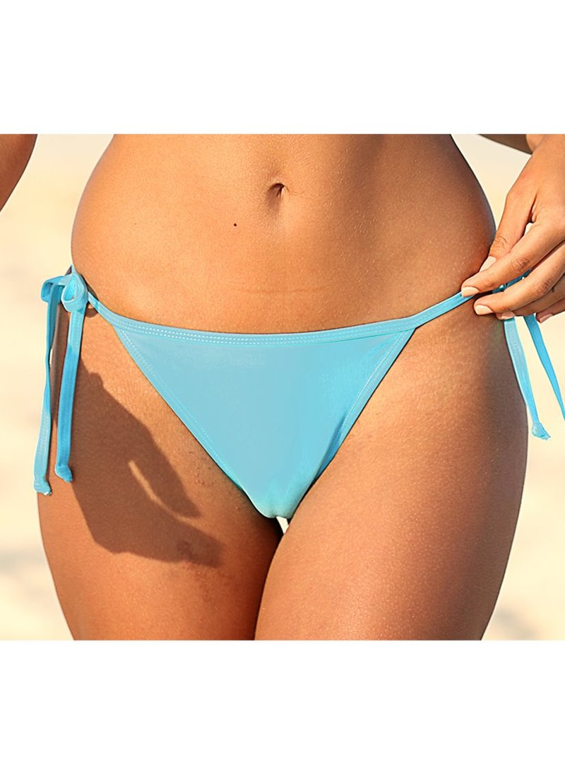 Braga de bikini lisa anudada con lazos