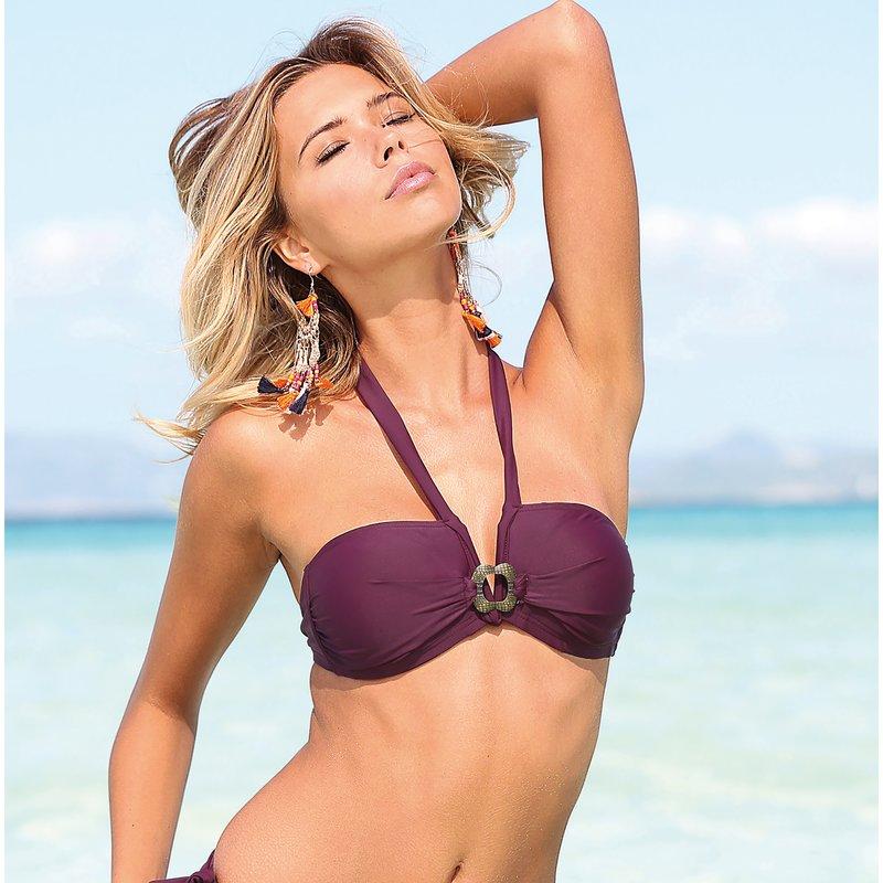 Sujetador bikini bandeau tirante halter
