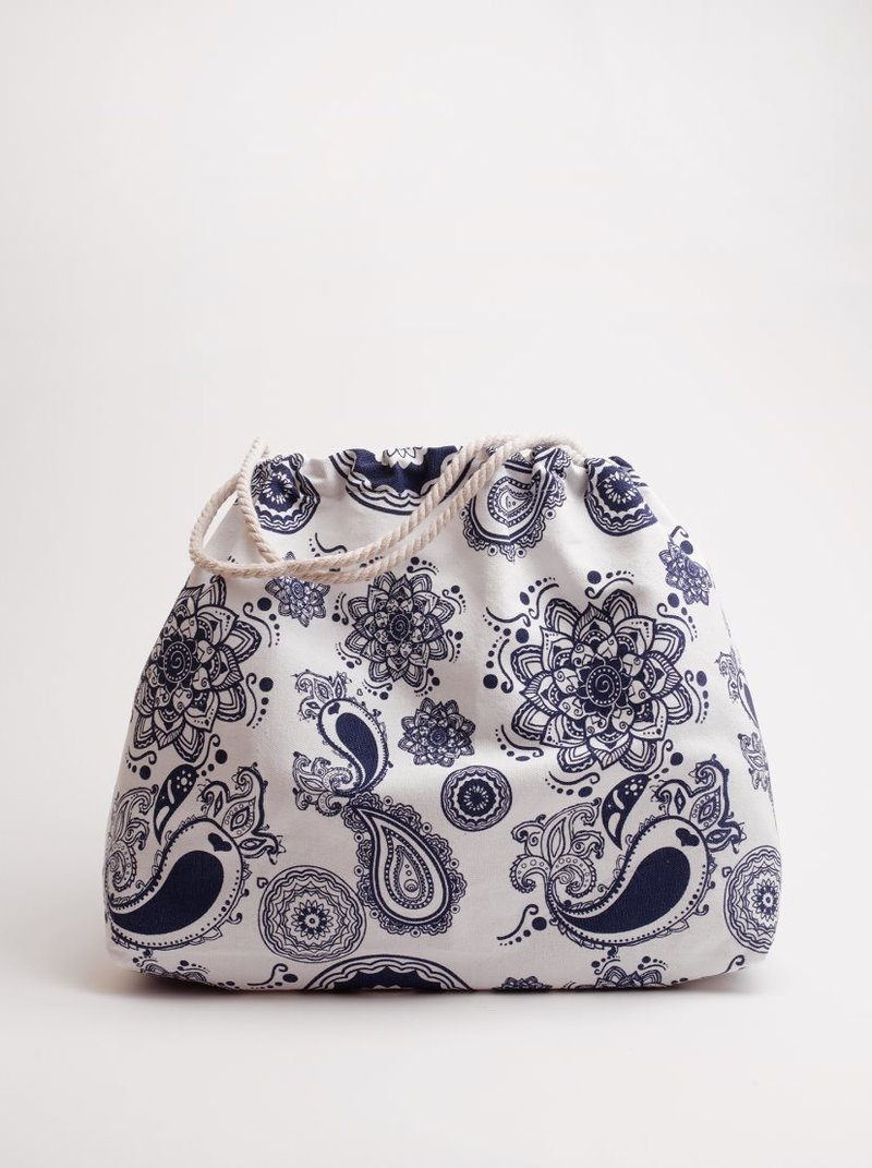 Bolso de playa estampado en tejido canvas