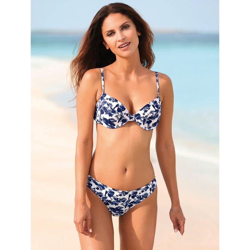 Bikini estampado con aros y relleno