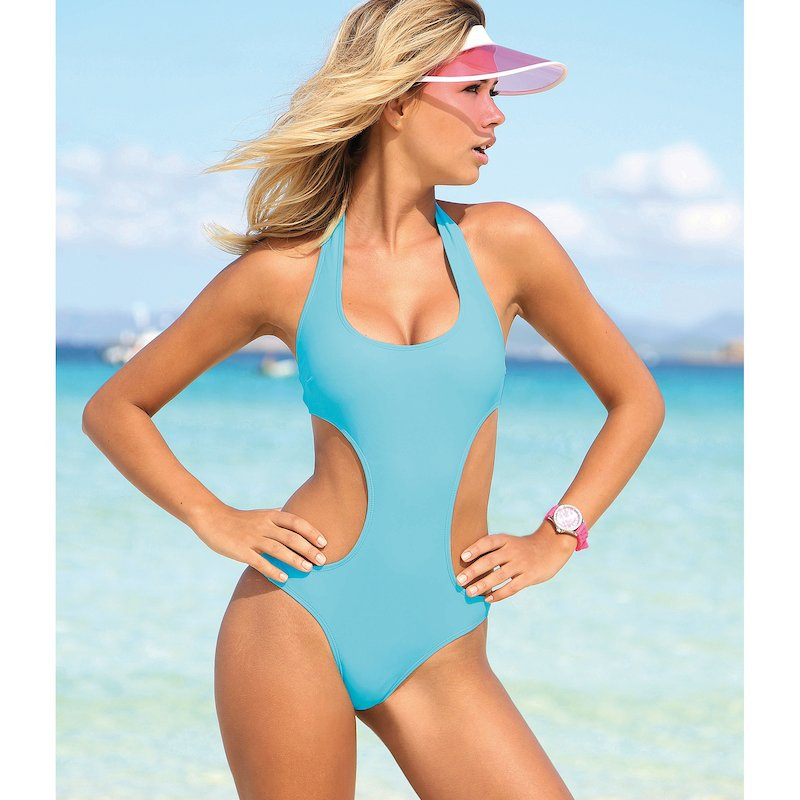 Trikini liso anudado y la espalda forrado