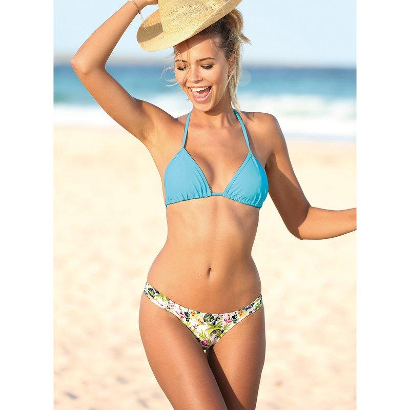 Braga bikini combinable estampada con fruncidos