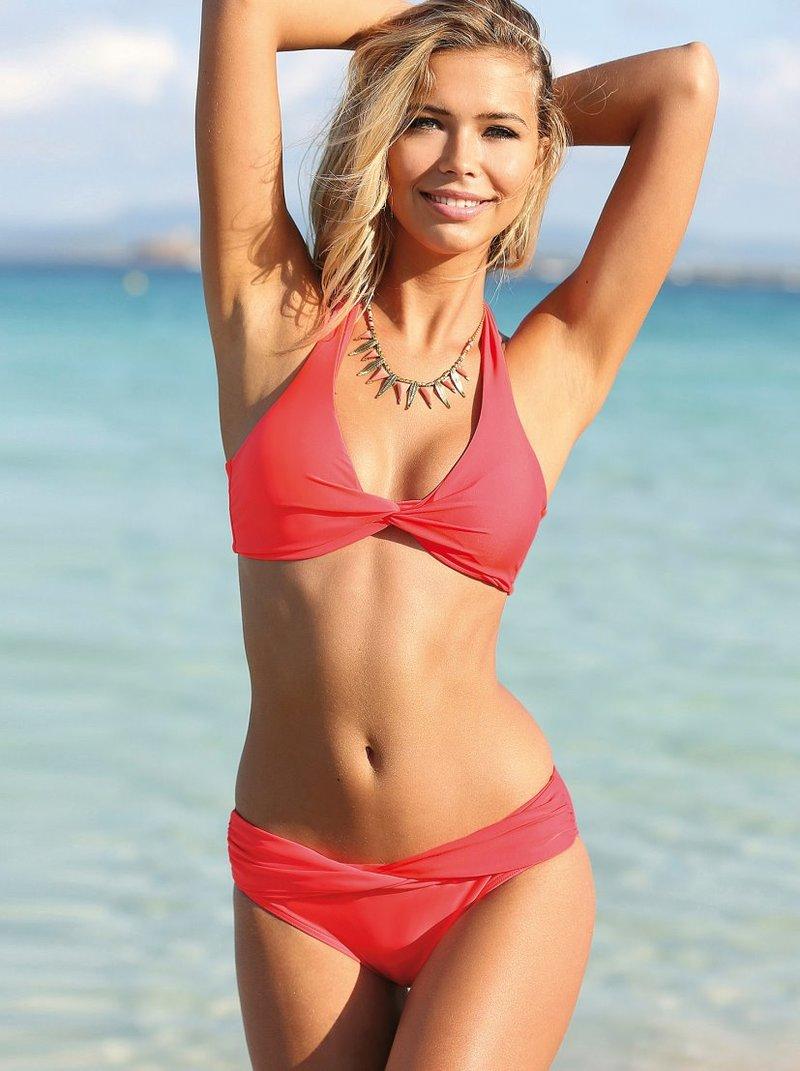 Braga de bikini combinable con pieza cruzada
