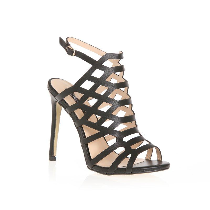 Sandalias de fino tacón diseño abotinado