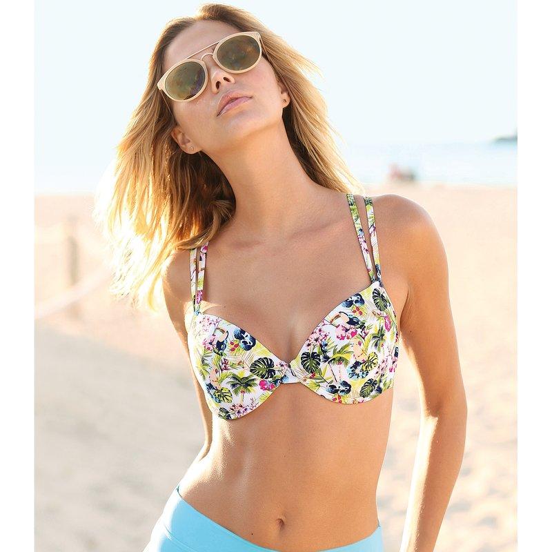 Sujetador de bikini estampado con aros