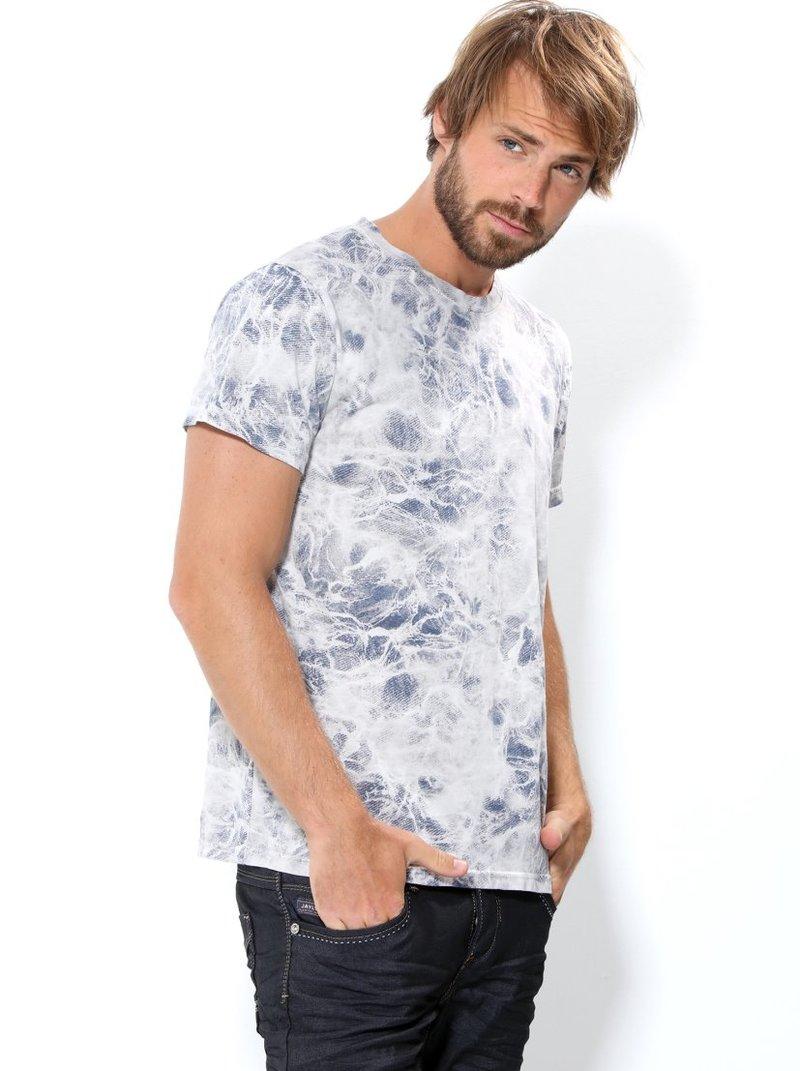 Camiseta hombre estampada con escote redondo