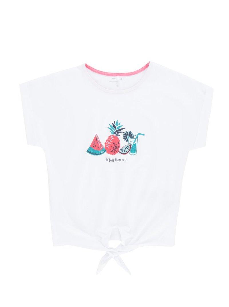 Camiseta de niña con tiras para anudar