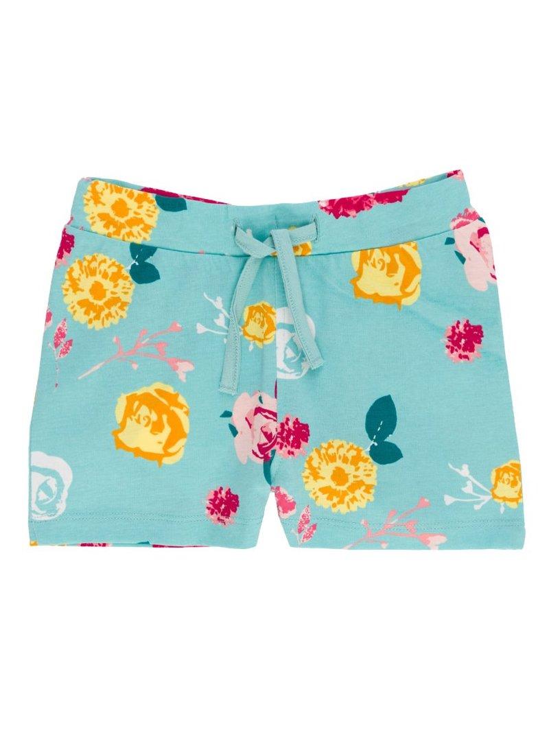 Pantalones short  niña 100% algodón - Azul