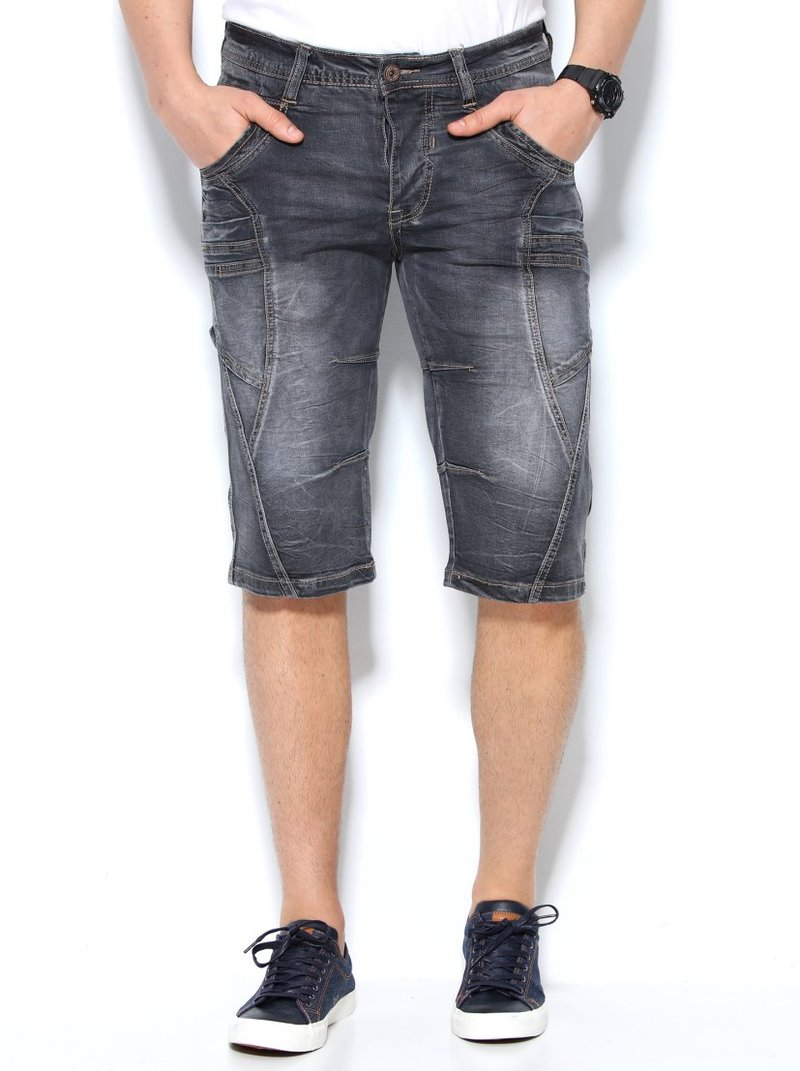 Pantalón bermuda vaquero hombre multibolsillos