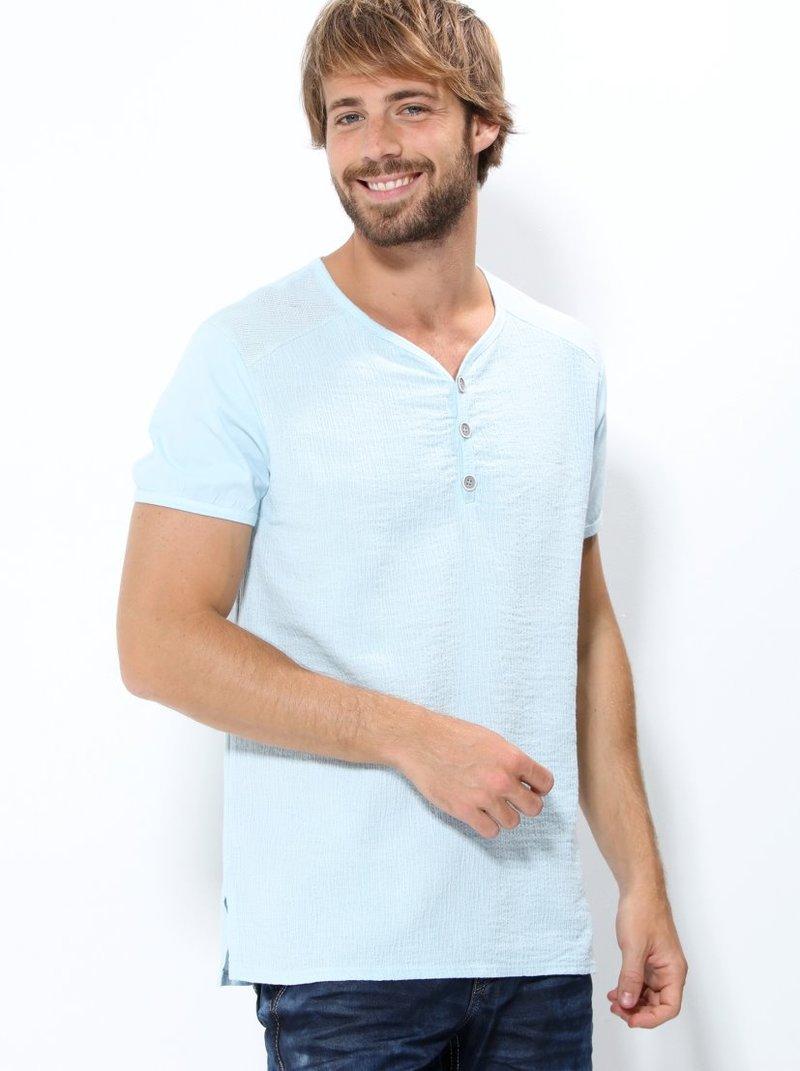 Camiseta hombre manga corta efecto bambula