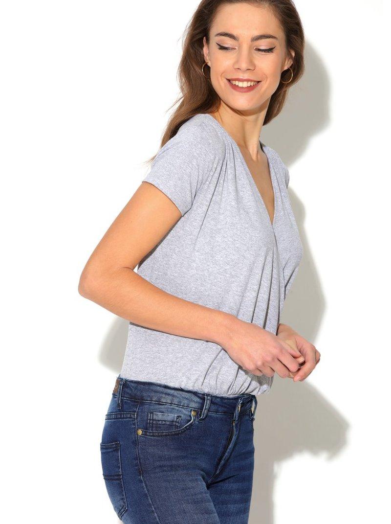 Body mujer de punto elástico con gran escote