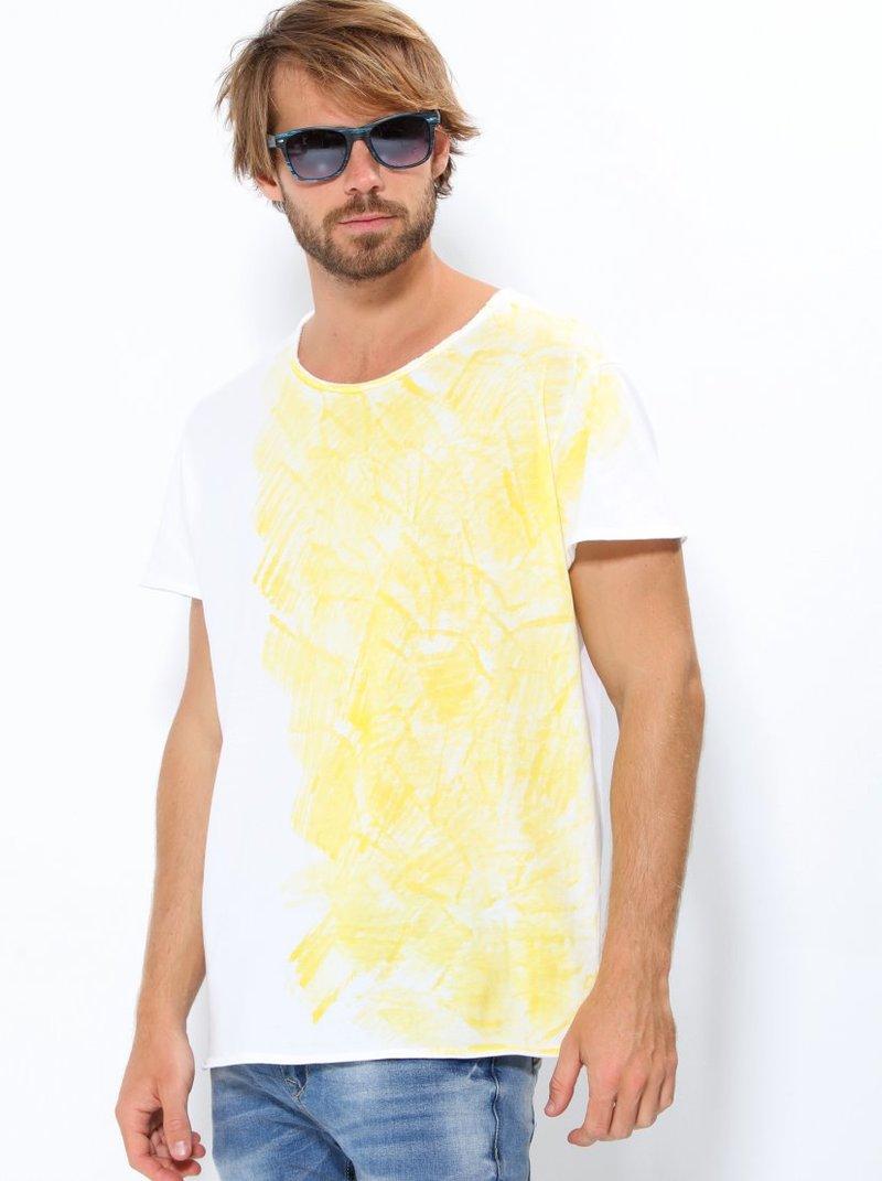 Camiseta hombre manga corta punto estampado