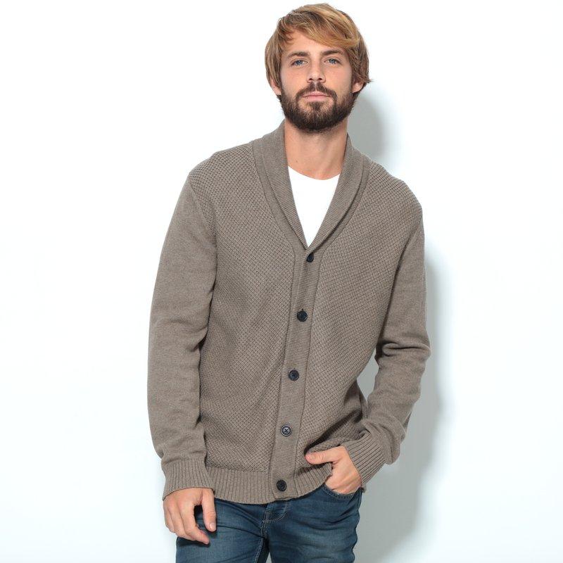 Chaqueta cardigan hombre tricot