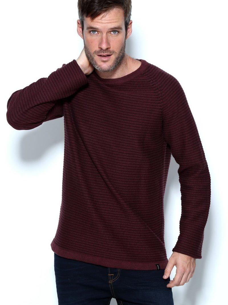 JACK & JONES - Jersey hombre tricot efecto rayas