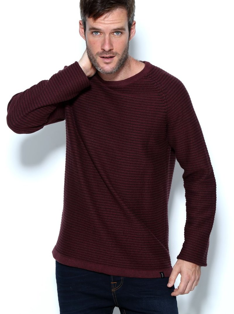 Jersey hombre tricot efecto rayas