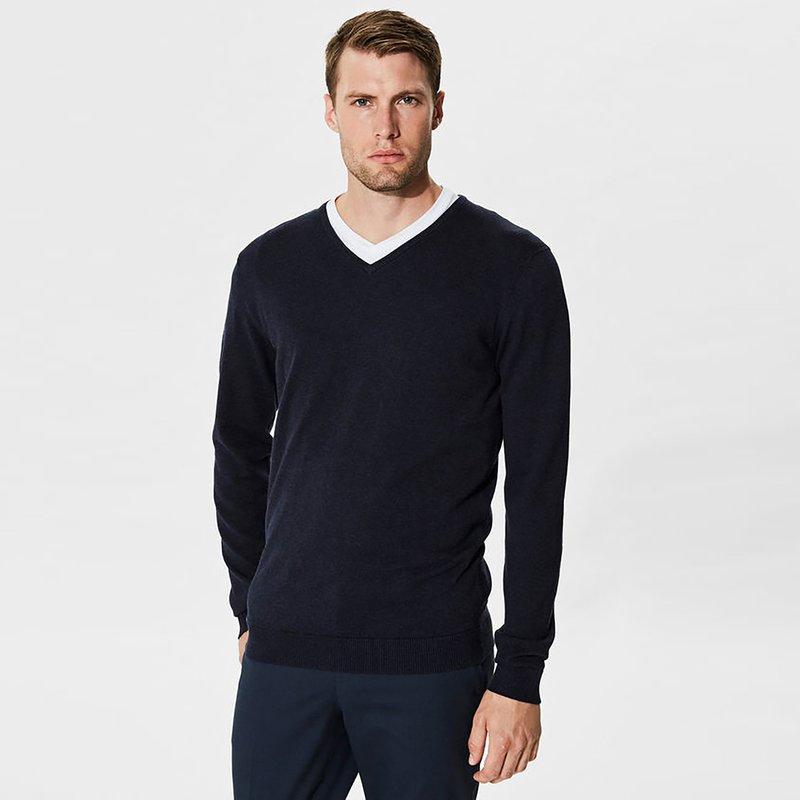 SELECTED - Jersey tricot hombre de algodón pima