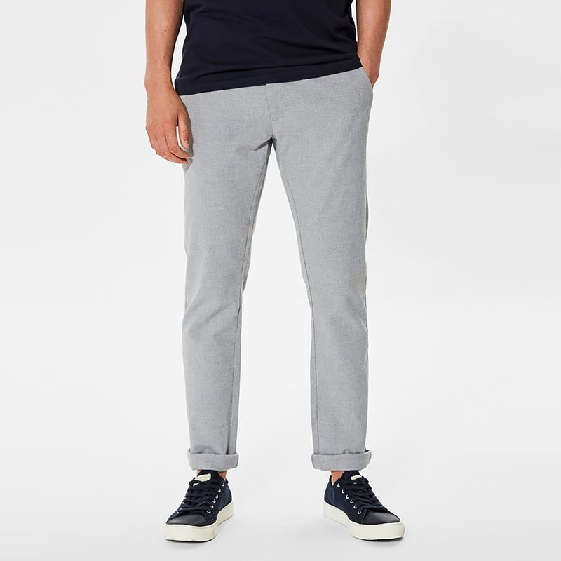 Pantalón largo hombre tejido Oxford tipo chino