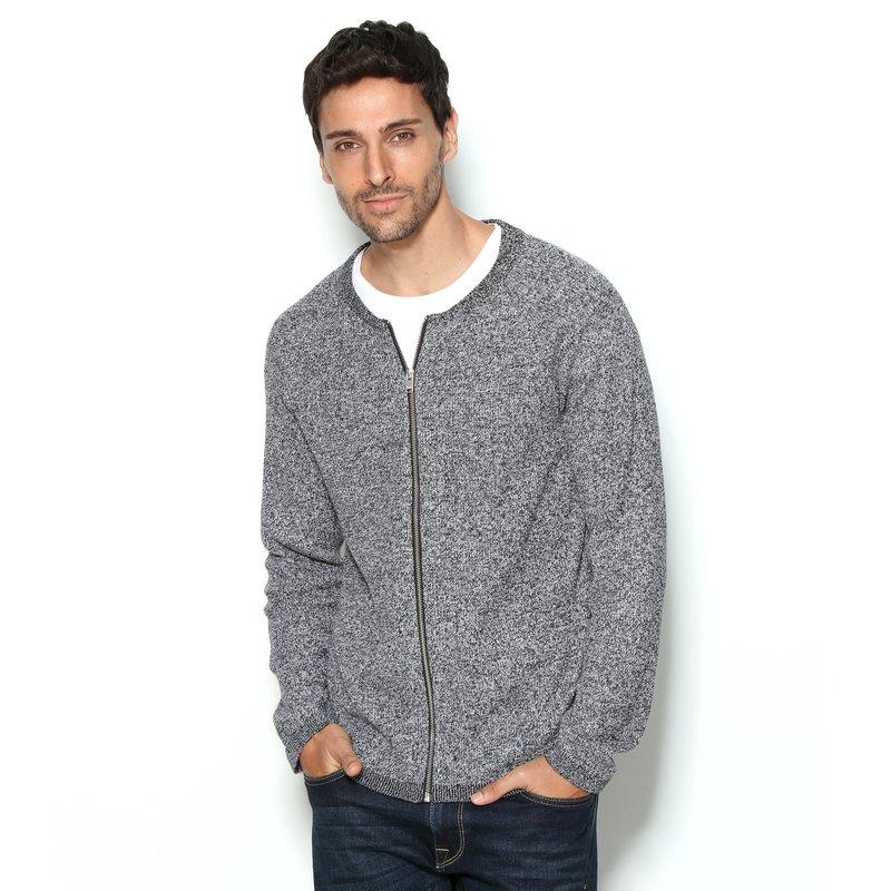 SELECTED - Chaqueta de hombre en tricot jaspeado