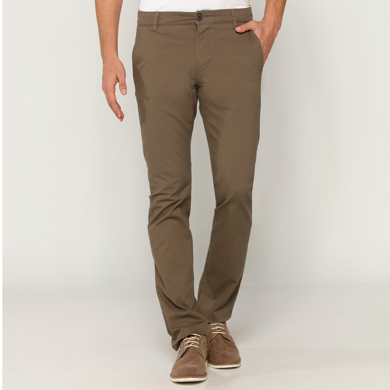 Pantalones largos chinos hombre gabardina