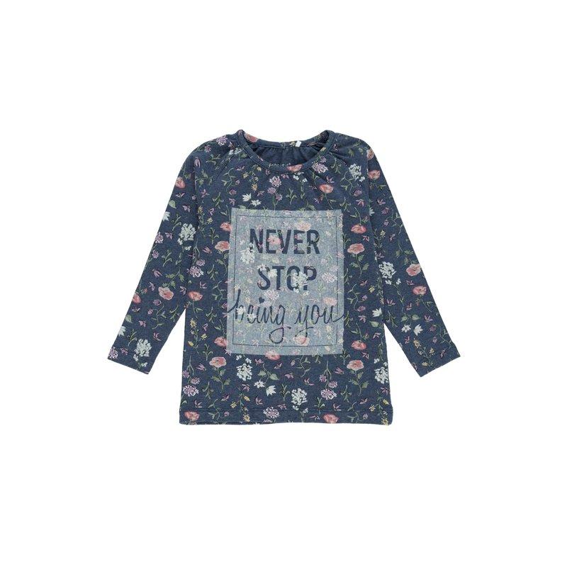 Camiseta de niña estampado floral