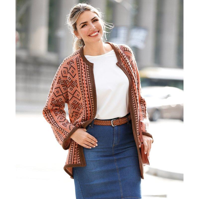 Chaqueta tricot jacquard