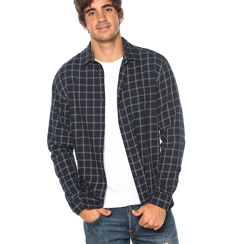SELECTED - Camisa cuadros bicolor slim fit