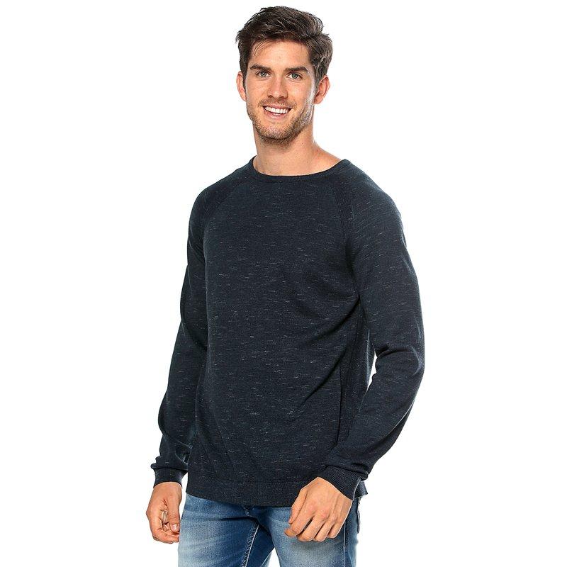 SELECTED - Jersey tricot manga larga punto canalé