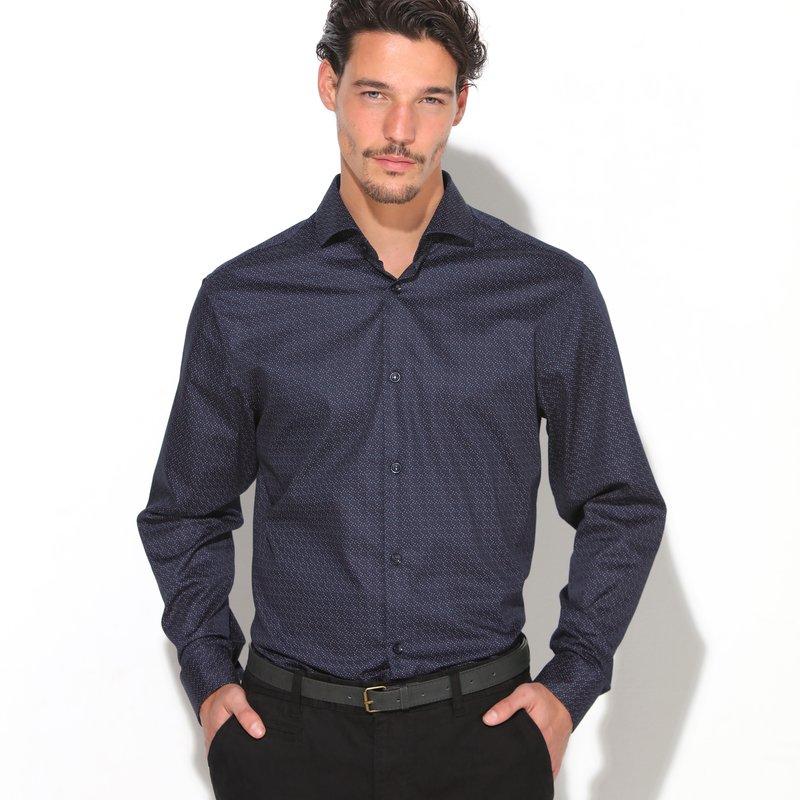 Camisa de hombre manga larga estampado