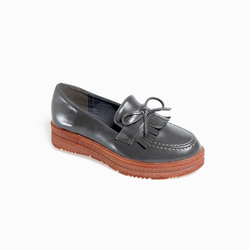 Zapatos mocasines con plataforma en símil piel