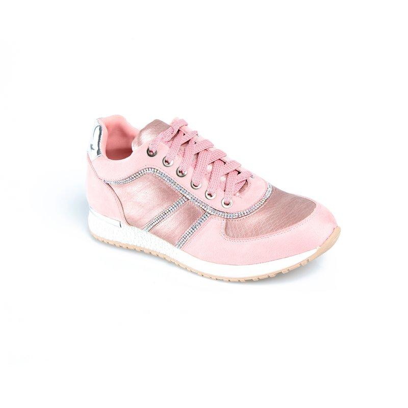 Zapatillas deportivas con strass y plataforma