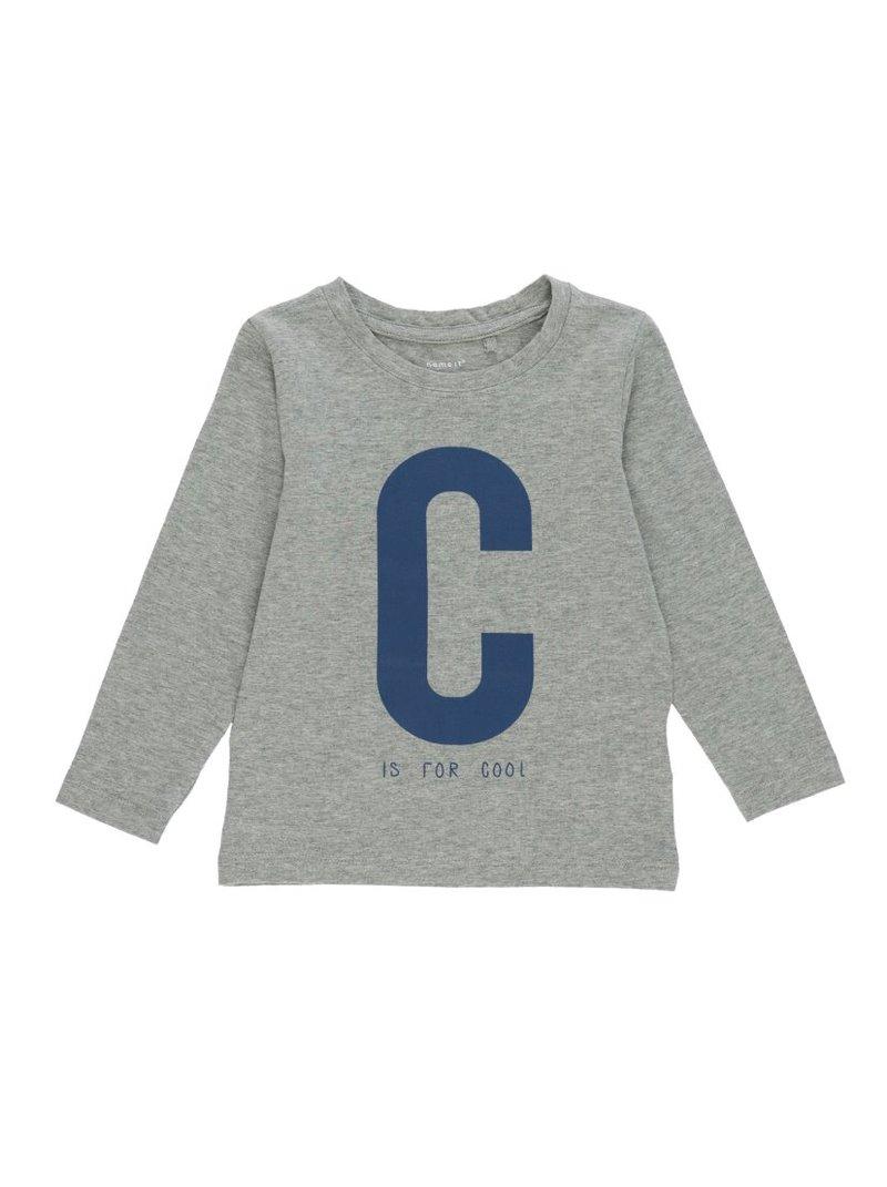 Camiseta de niño estampado letras manga larga