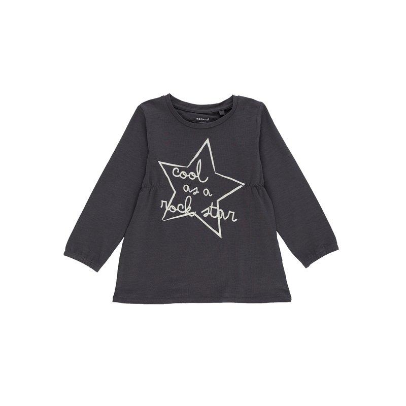 Camiseta niña con frunces elásticos