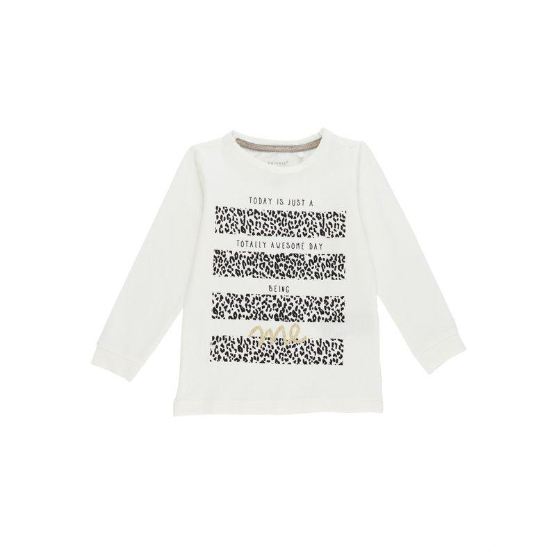 Camiseta niña estampada manga larga