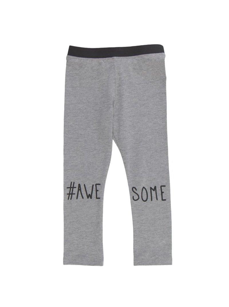 Pantalón legging largo de niña AWASOME - Gris