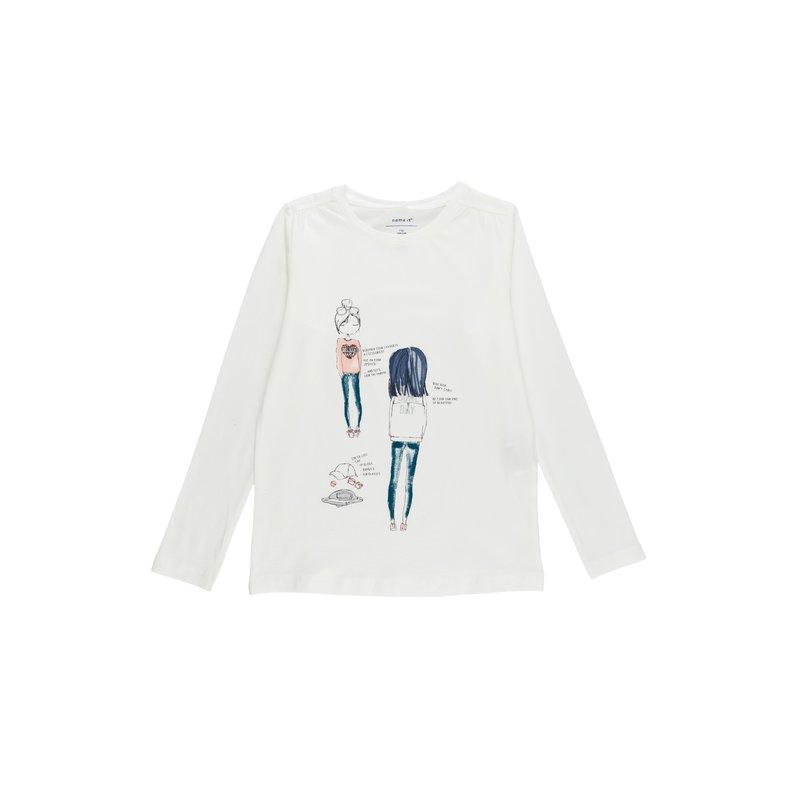 Camiseta niña muñeca con detalles glitter